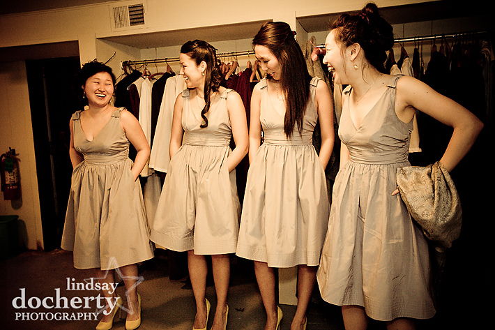 grey gray BHLDN bridesmaid dress wedding