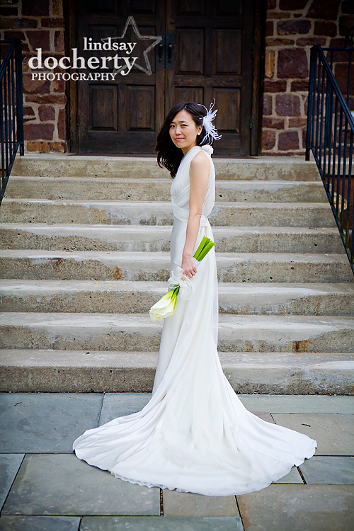Gwynnedd Wedding Photography Korean bride vera wang dress