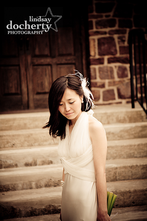 Gwynedd Wedding Photography Korean bride vera wang dress