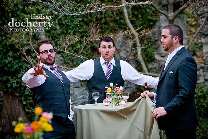 groomsmen at Old Mill, Media