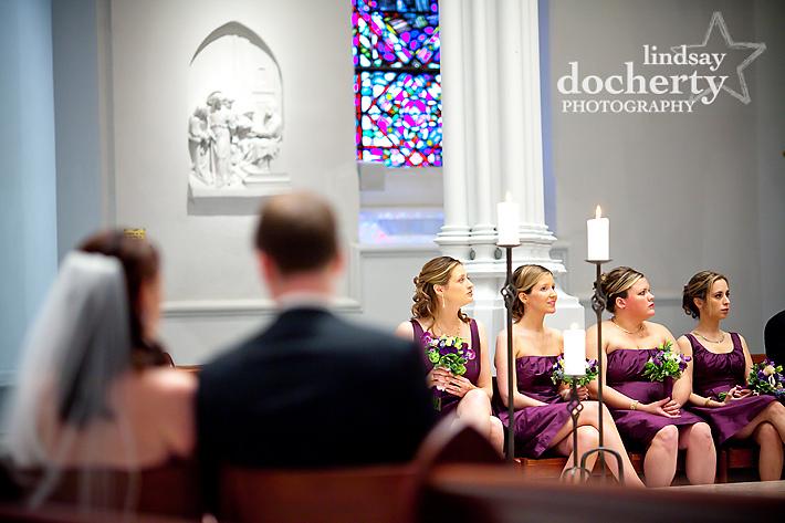 bridesmaids at St. Thomas of Villanova