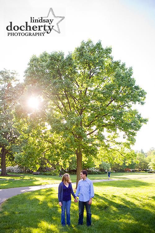 Philadelphia azalea garden engagement pictures