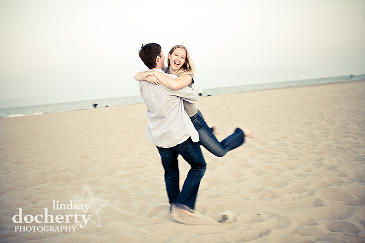 beach engagement session Ocean City Maryland
