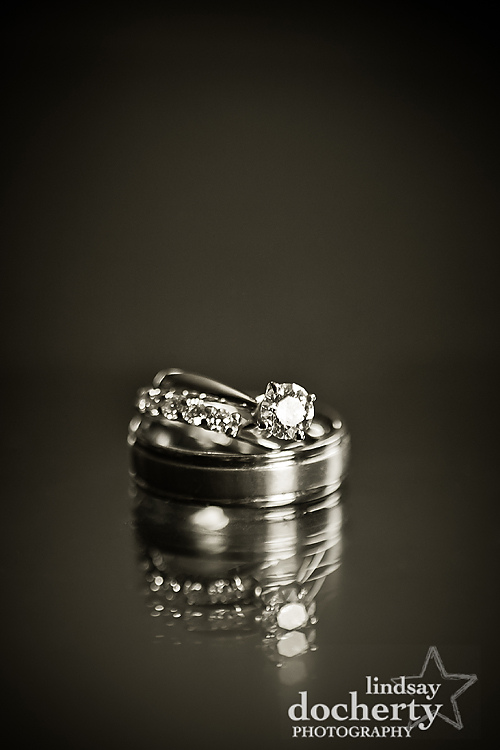 wedding and engagement rings details
