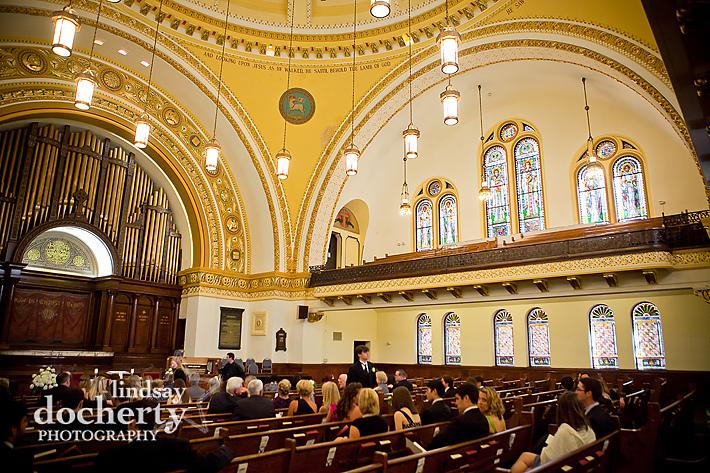 wedding at First Baptist Church of Philadelphia
