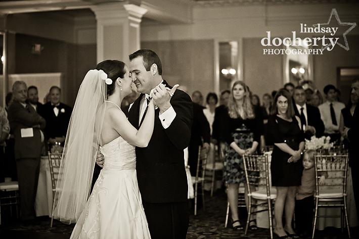 couple's first dance at Radisson Warwick