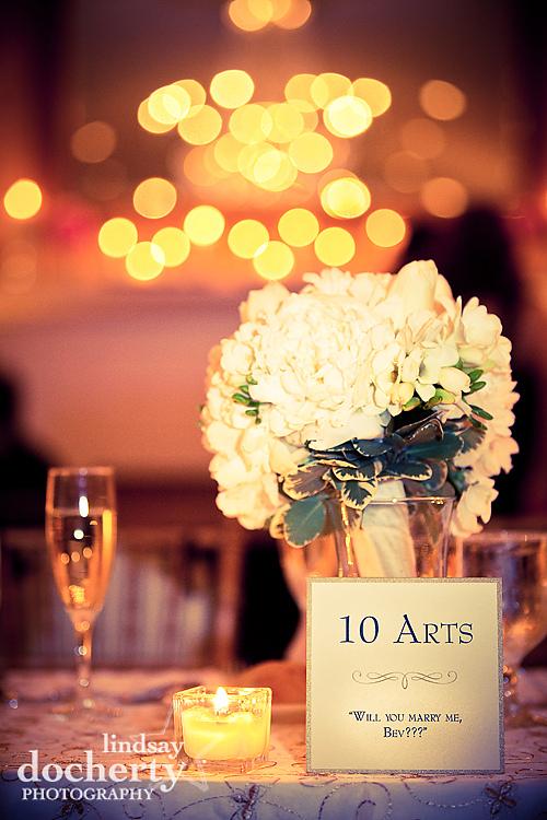 head wedding table at Radisson Warwick