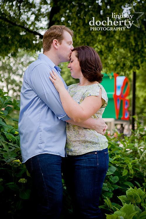 Philadelphia engagement session in Love Park