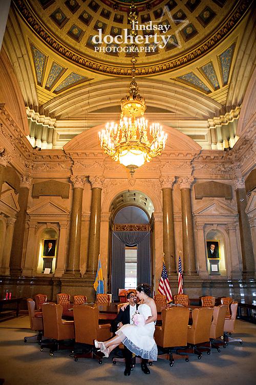 Philadelphia City Hall wedding photography