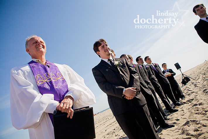 beach wedding in cape may
