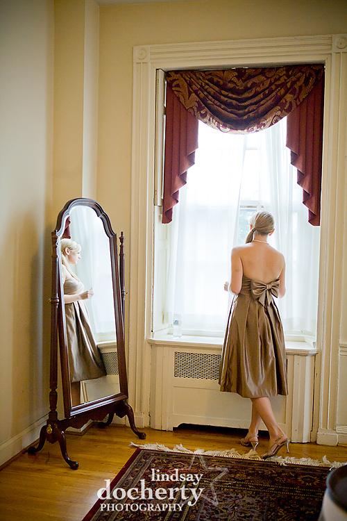 bridesmaid at Pen Ryn Mansion