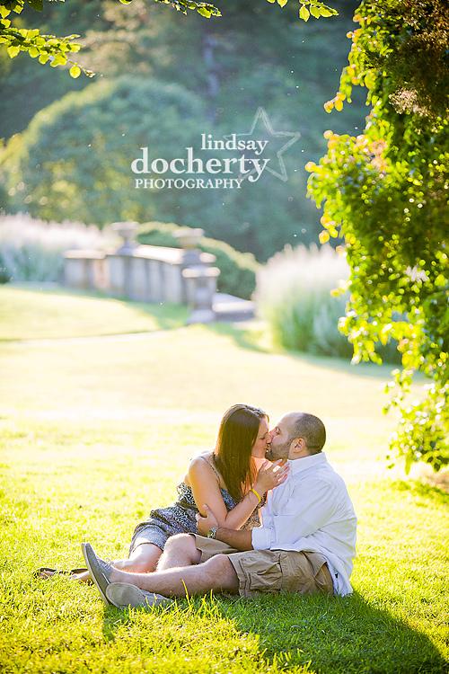 Engagement photography at Morris Arboretum