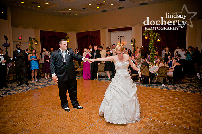 bride and groom first dance at Tarrytown House Estate