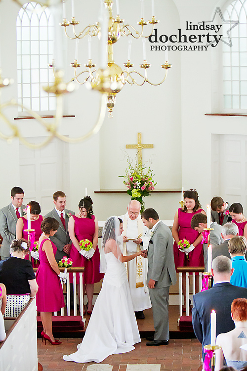 Wedding photography in Delaware Immanuel Episcopal Church