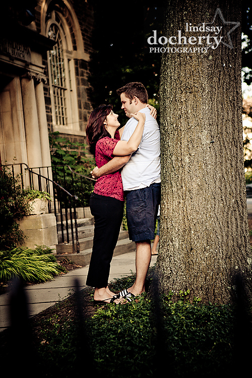 Philadelphia Chestnut Hill engagement session