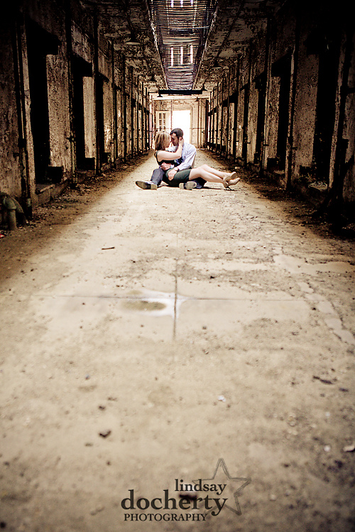 Eastern State Penitentiary engagement session pictures