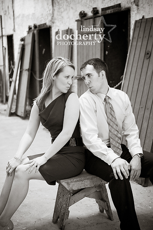 Philadelphia engagement photography session Eastern State Penitentiary