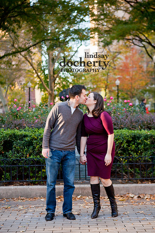 Philadelphia engagement session around Rittenhouse Square