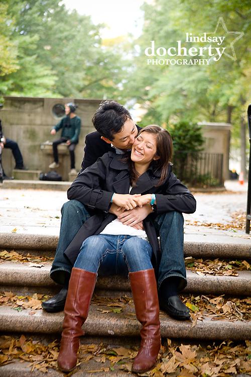 Philadelphia engagement session around Rittenhouse Square