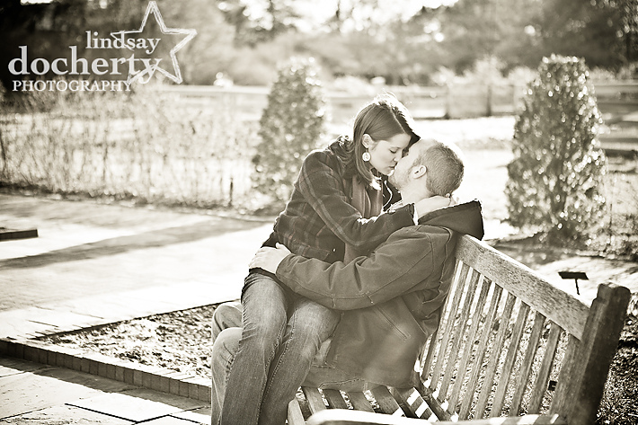 engagement session at Longwood Gardens
