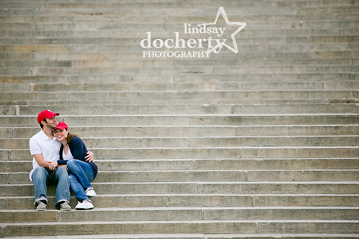 Philadelphia Art Museum area engagement session