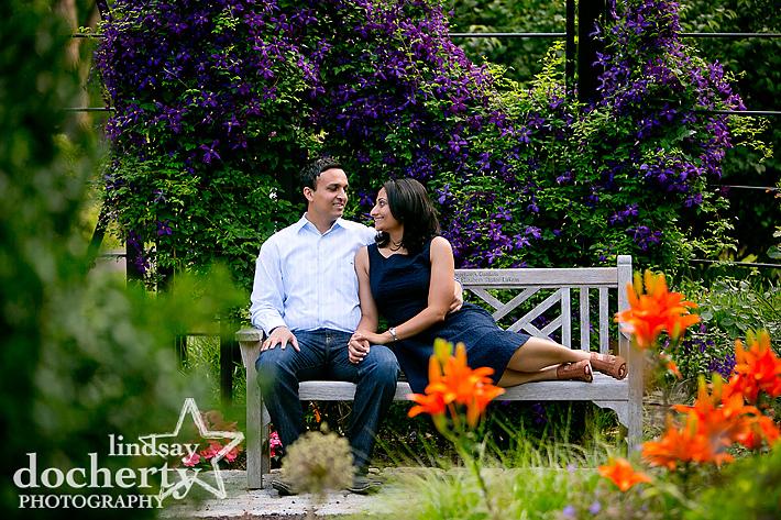 Morris Arboretum Philadelphia engagement session