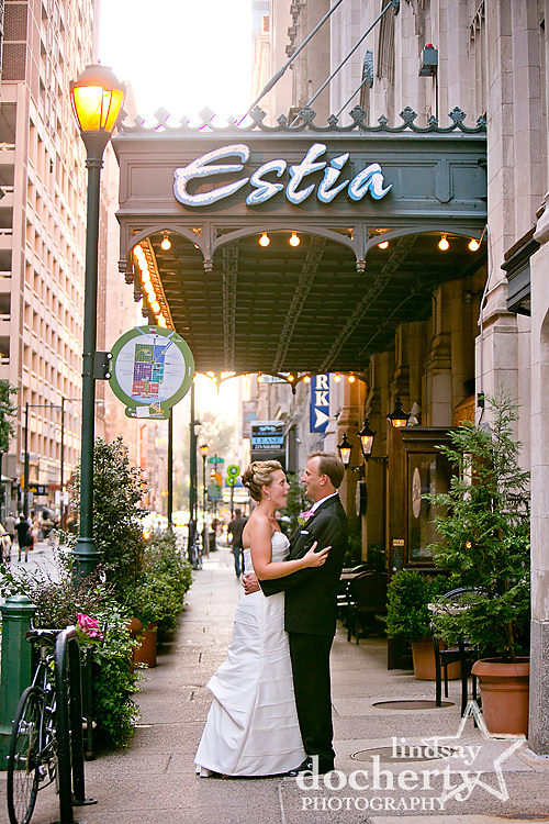 Estia Restaurant in Philadelphia wedding photography