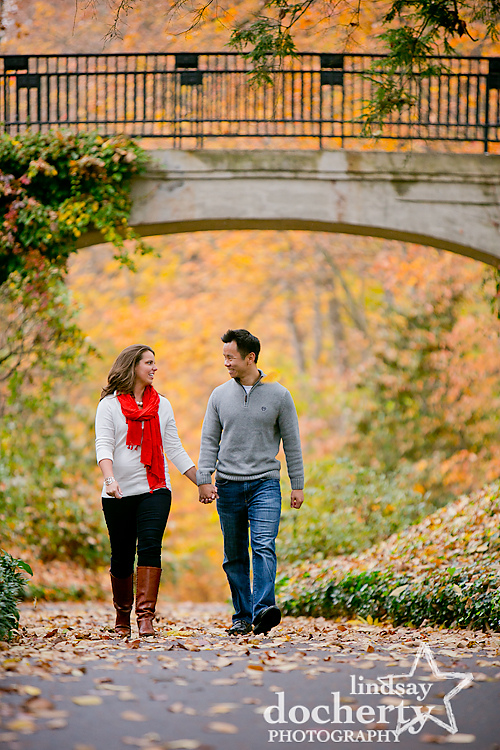 Longwood Gardens engagement photography session