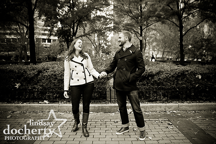 Rittenhouse Square engagement photography session