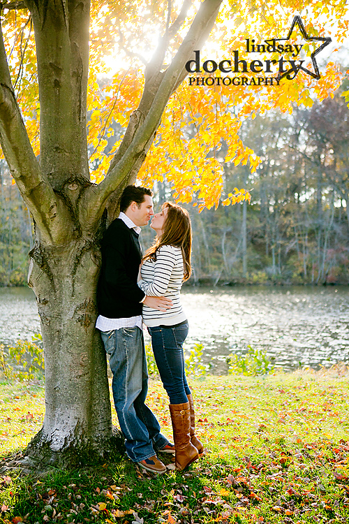 Moorestown, NJ engagement photography at Strawbridge Park