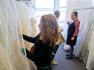 NYC wedding dress shopping