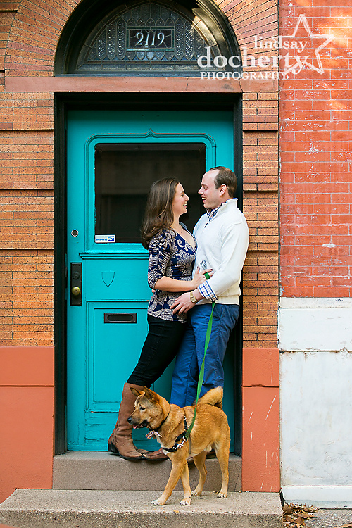 Philadelphia Rittenhouse Square engagement pictures