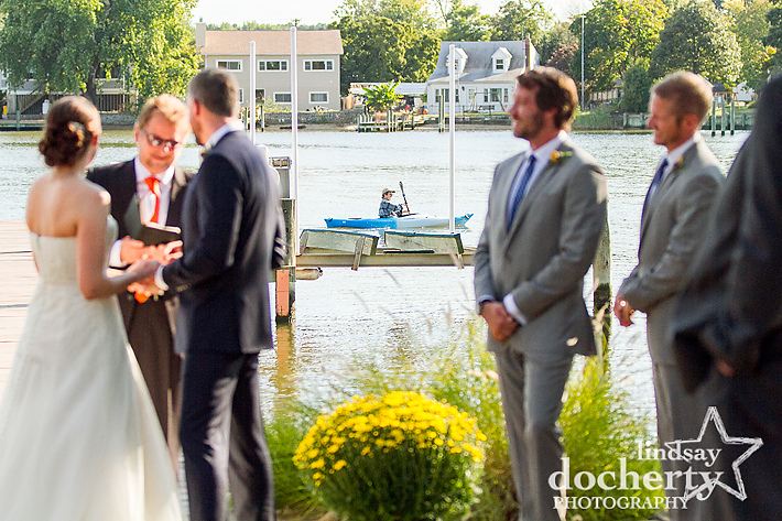 Maryland wedding photography at a private home