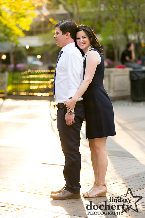 Philadelphia engagement session in Rittenhouse Square