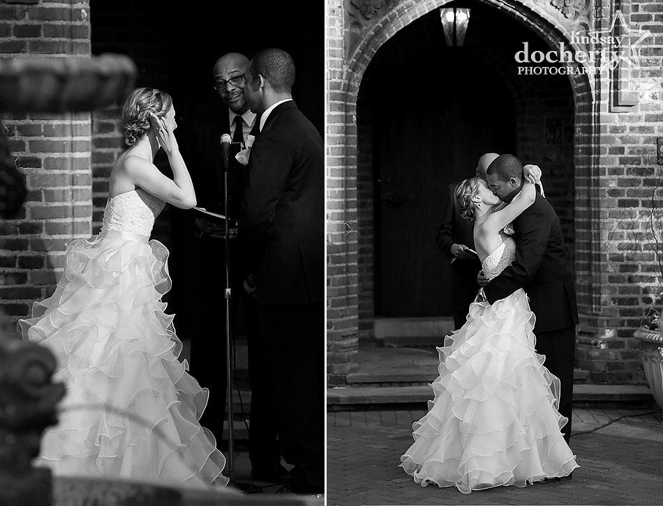 Aldie-Mansion-wedding-ceremony in front courtyard