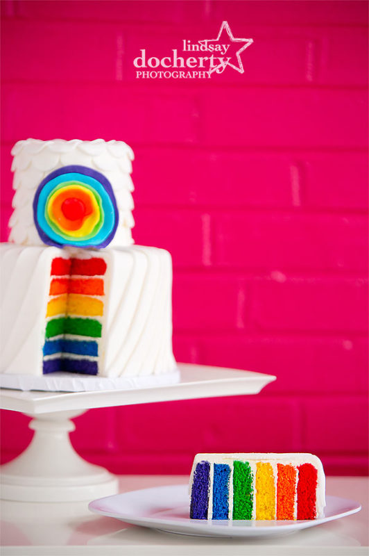 LGBTQ rainbow wedding cake