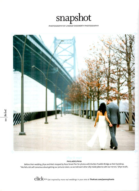 Philadelphia City Hall wedding picture featured in The Knot