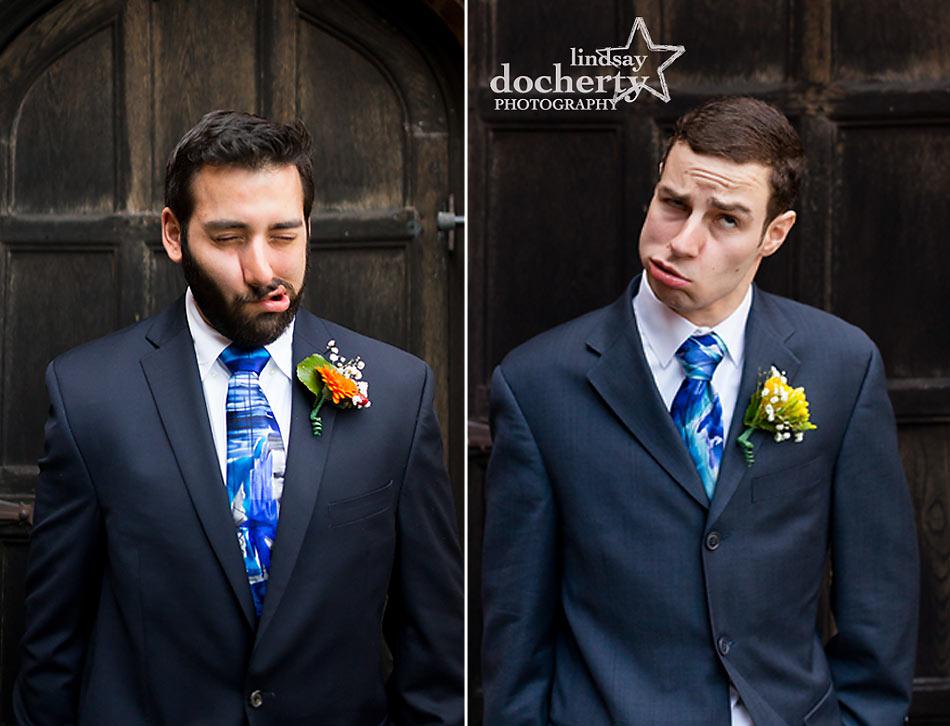 Aldie Mansion groomsmen goofy faces