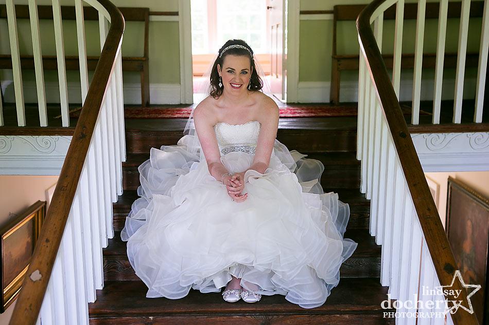 Bride portrait at at Immanuel Episcopal Church in Newark Delaware