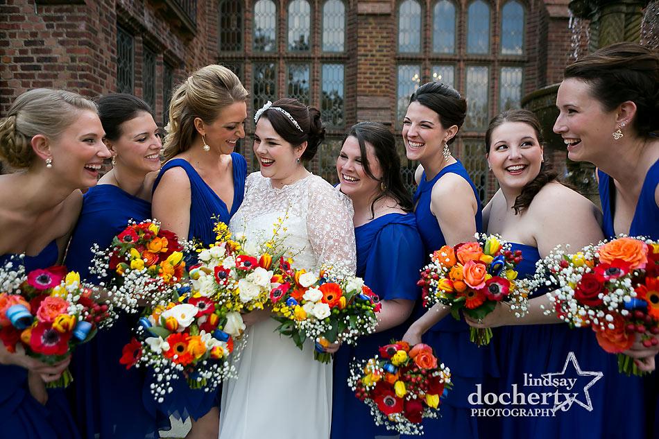 Bridesmaids at Aldie Mansion