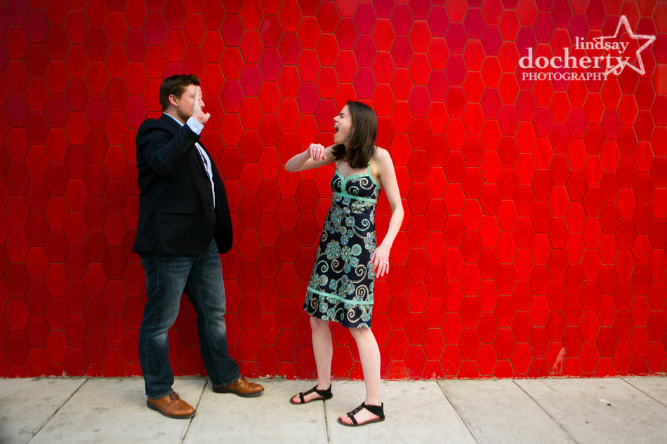 Philadelphia engagement session outside Continental