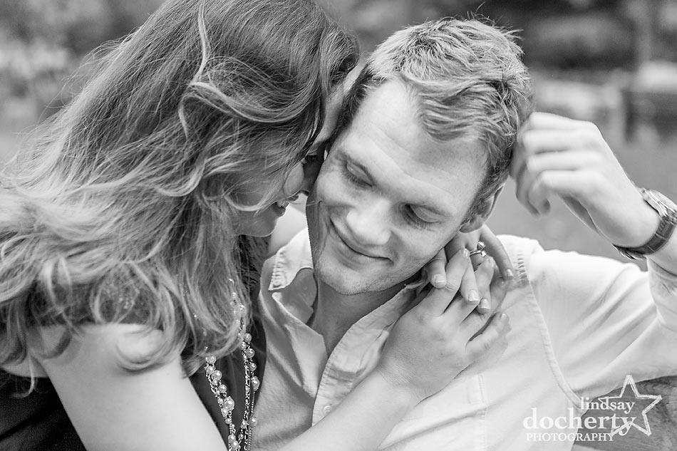 Engagement session in Philadelphia's Wissahickon Park