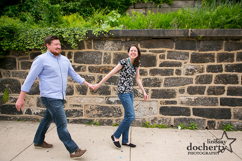 Summer Philadelphia engagement session at Fairmount Eastern State Penitentiary