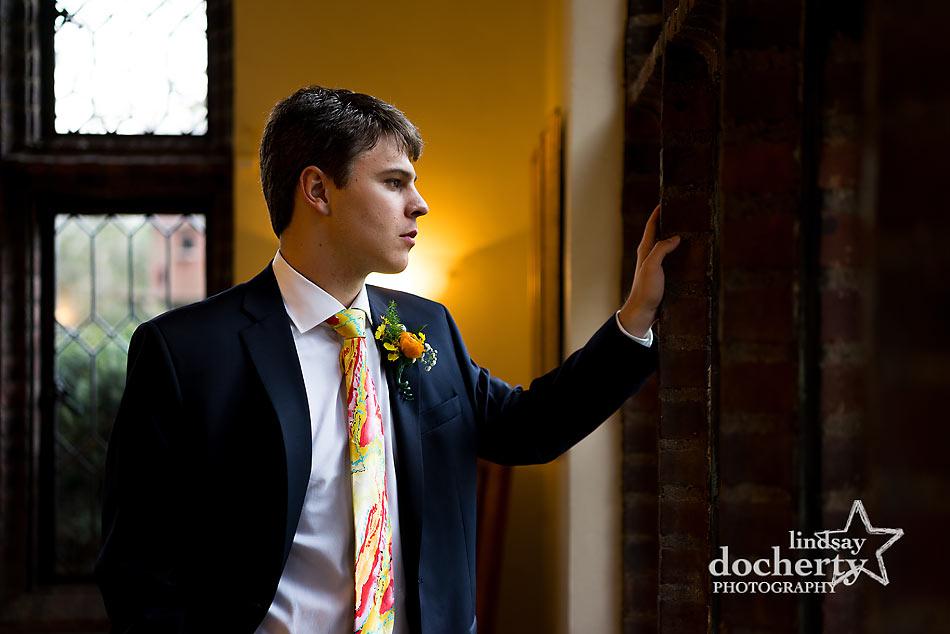 groom portrait at Aldie Mansion
