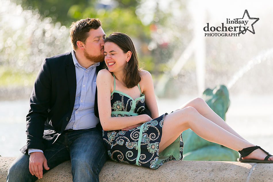Philadelphia engagement session at Logan Square