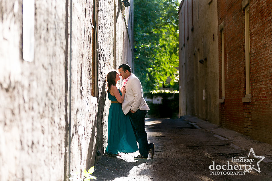 Old City engagement photography