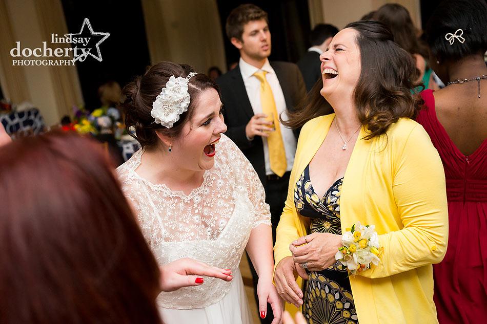 Wedding reception at Aldie Mansion