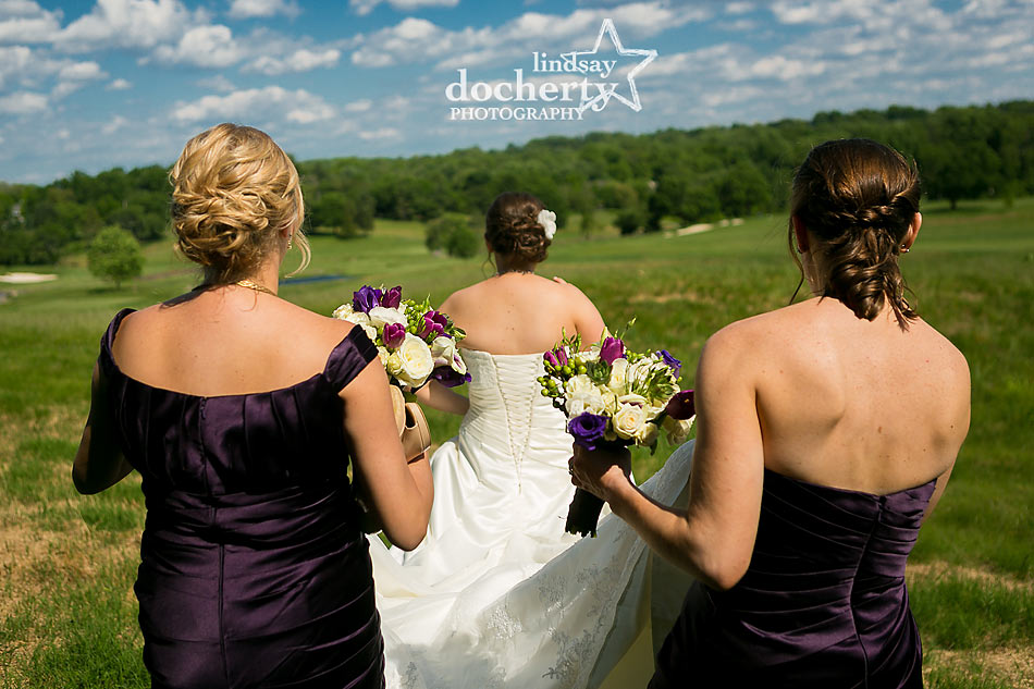 Bride and bridesmaids at ACE Conference Center in Lafayette Hill