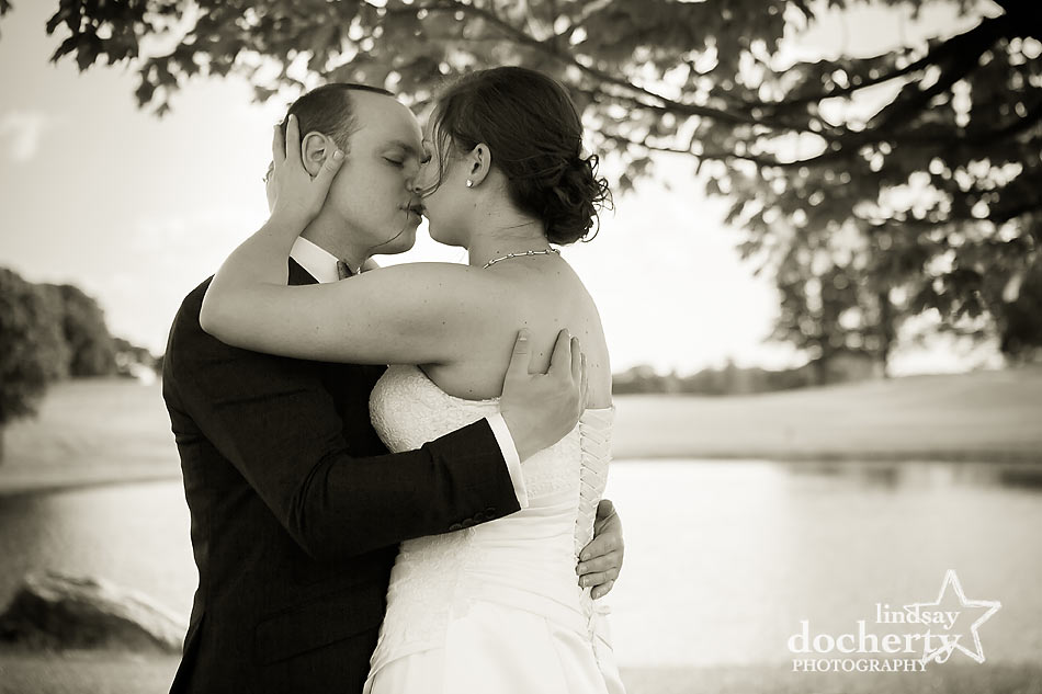 bride and groom wedding portraits at ACE Conference Center in Lafayette Hill