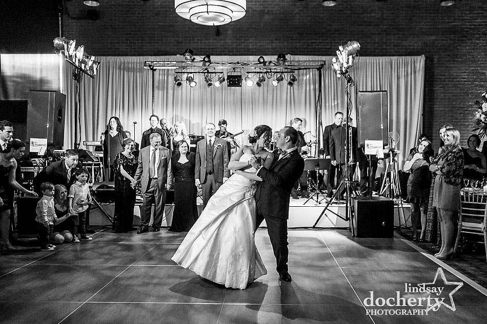 choreographed first wedding dance at ACE Conference Center in Lafayette Hill
